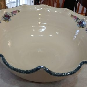 Home And Garden Party U2013 Floral U2013 Flute Edged Serving/ Pasta Bowl